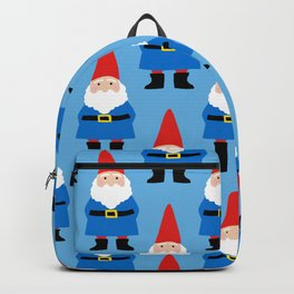 Gnome Repeat in Blue Backpack