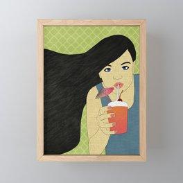 Drink Up Framed Mini Art Print