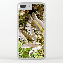 Grey-headed woodpecker feathers - Life goes on Clear iPhone Case
