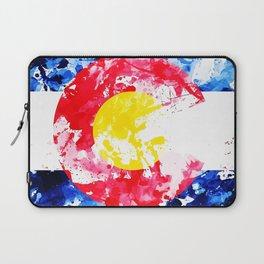 Colorado Watercolor Flag Laptop Sleeve