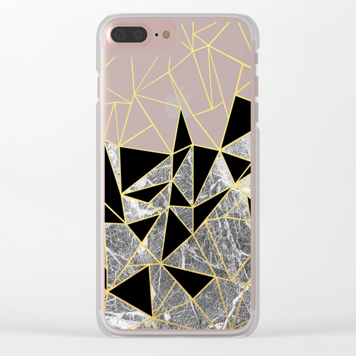 Marble Ab Clear iPhone Case