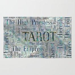 Tarot Major Arcana Word Art  on Pearl Rug