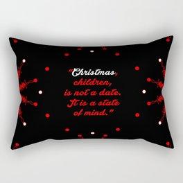 "Christmas children...""Mary Ellen Chase"" Christmas Quote Rectangular Pillow"