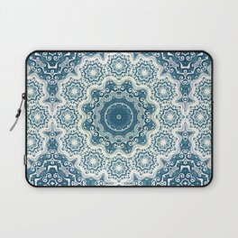 Creamy and blue mandala pattern#4 Laptop Sleeve