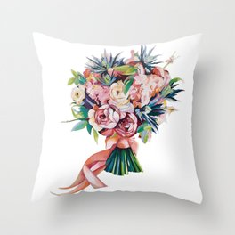 Wedding bouquet Throw Pillow