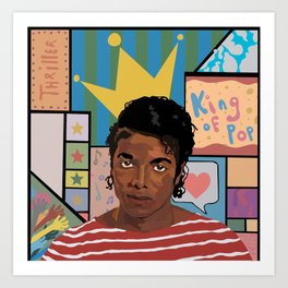 Dear MJ, i am Art Print