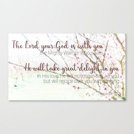 Zephaniah 3  17 Canvas Print