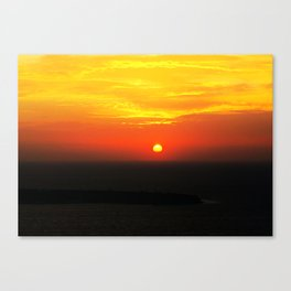 sunset in Oia Canvas Print
