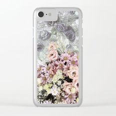 Delicate dreamy pastel floral Clear iPhone Case