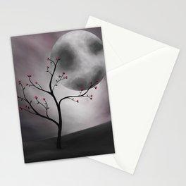 Midnight Peach Stationery Cards