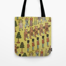 Vintage Christmas Toys and Nut Crackers (1906) Tote Bag