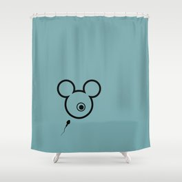 > f i r s t Shower Curtain