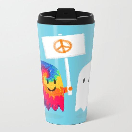Hippie ghost Metal Travel Mug
