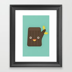 Tree Stump Chair Framed Art Print