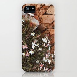 wild flowers in the red sand iPhone Case