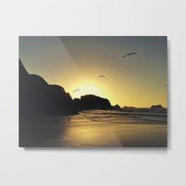 Sunset at Bandon Beach, OR. Metal Print