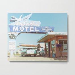 Route 66 Blue Swallow Motel Metal Print