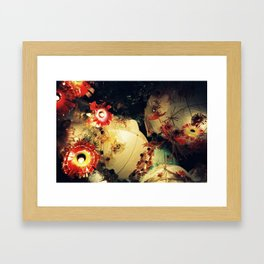 Festa lights Framed Art Print