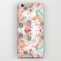 flamingos iPhone & iPod Skins featuring FlAmINGOS by Monika Strigel
