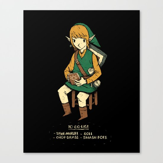 link to do list Canvas Print