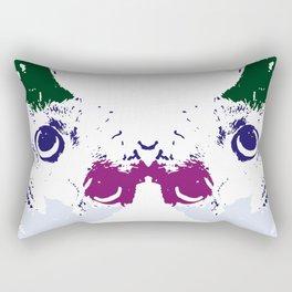 Suspicious cat Rectangular Pillow