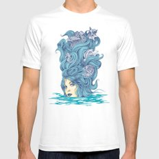 Ocean Queen MEDIUM Mens Fitted Tee White