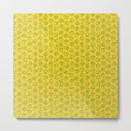 Botanken's Pattern Dream: Yellow. Metal Print