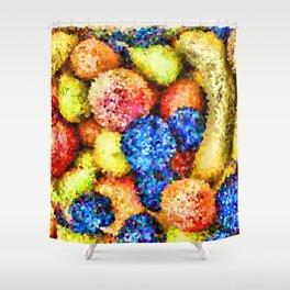 crystallized fruits Shower Curtain