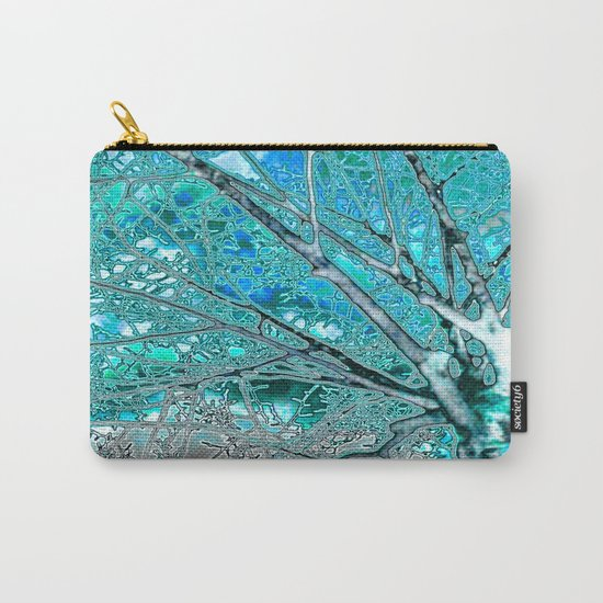 Digital Tree Cyan Carry-All Pouch