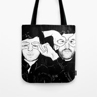 justice Tote Bags featuring Justice by SAIMIN