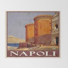 Vintage poster - Napoli Throw Blanket
