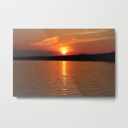 Sunset Over Lake Waccamaw 2 Metal Print