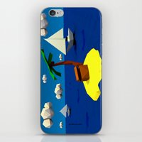 low poly iPhone & iPod Skins featuring Low-Poly Treasure Island by Jorge Antunes