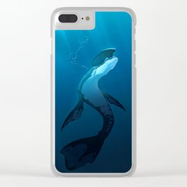 Deep Blue Clear iPhone Case