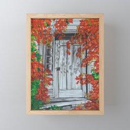 Autumn Doorway Framed Mini Art Print