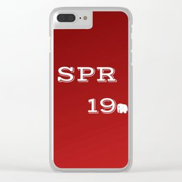 Spring 19 Red and White Limited Edition Clear iPhone Case