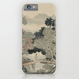 Vintage Japanese Landscape Painting iPhone Case