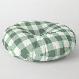 Hunter Green Buffalo Check Floor Pillow