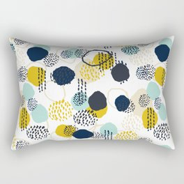 Jamm - abstract art painting brushstrokes modern minimal paint trendy colors hipster gender neutral  Rectangular Pillow