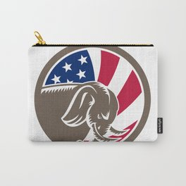 Republican Elephant Mascot USA Flag Carry-All Pouch