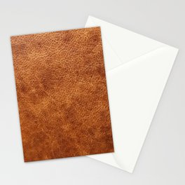 Brown vintage faux leather background Stationery Cards
