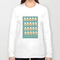 eggs Long Sleeve T-shirts featuring eggs by Michela Buttignol