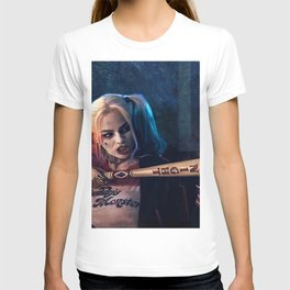 Harley Quinn - The Clown Princess Of Gotham With Her Goodnight Bat T-shirt