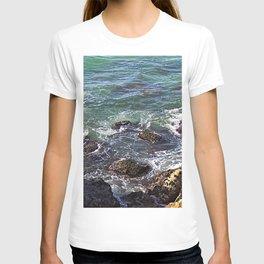 Rocks Sea Waves Seascape T-shirt