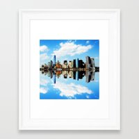 new york Framed Art Prints featuring New York New York by haroulita