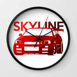 Nissan Skyline GT-R  - classic red - Wall Clock