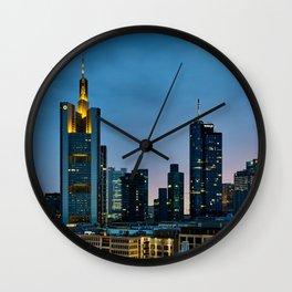 Frankfurt By Night Wall Clock