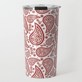 Paisley (Maroon & White Pattern) Travel Mug