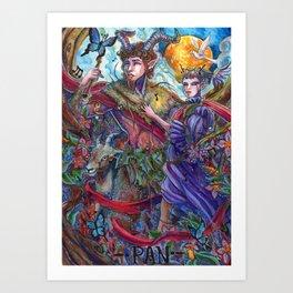 Pan and Selene Art Print