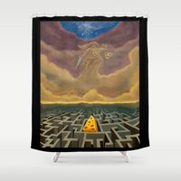 justice league Shower Curtains featuring Justice Game by gunberk